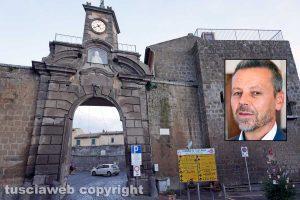 Tuscania - Nel riquadro: Il sindaco Fabio Bartolacci