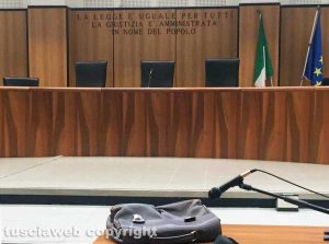 Viterbo - Un'aula del tribunale