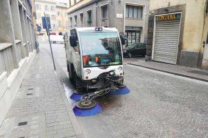 Viterbo - Iniziata la sanificazione stradale