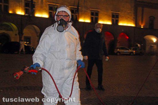 Coronavirus - Viterbo - La sanificazione della città