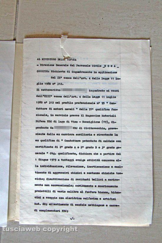 Ronciglione - Chemical city - Il documento del 13 marzo 1991