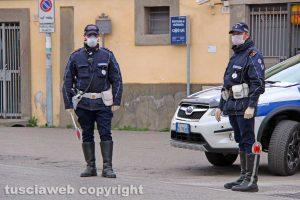Viterbo - Coronavirus - I controlli della Polizia locale
