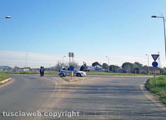 Tarquinia - Posto di blocco polizia locale