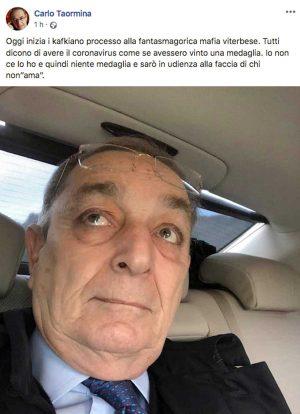 Il post di Carlo Taormina su Facebook