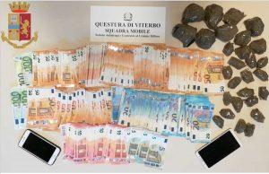 Viterbo - Polizia - La cocaina sequestrata