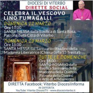 Messa in diretta del vescovo Lino Fumagalli