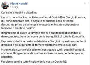 Coronavirus, la comunicazione del sindaco Nocchi