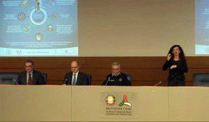 Coronavirus - La conferenza stampa del capo della protezione civile Borrelli
