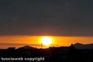 Viterbo - Il sole che sorge