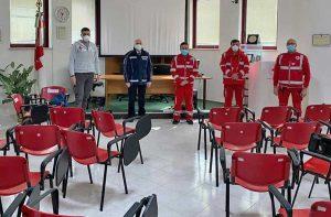 Bagnoregio - Marco Sbocchia, Mauro Vinciotti e tre piloti di droni della croce rossa