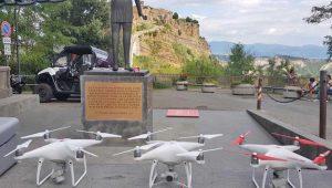Bagnoregio - Coronavirus - Il drone della croce rossa