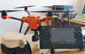 Un drone della polizia locale