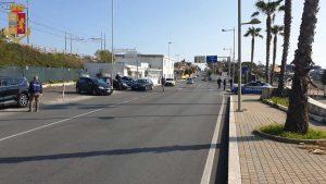 Civitavecchia - Posto di blocco della polizia