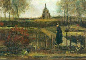 """""""Giardino della canonica a Nuenen in primavera"""" di Van Gogh"""