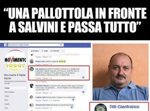 Montefiascone - La frase contro Matteo Salvini