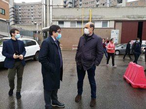 Viterbo - Coronavirus - Zingaretti e Alessio D'Amato a Belcolle