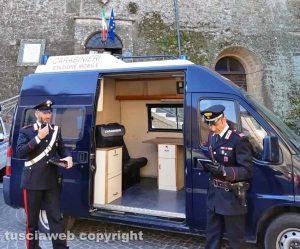 Onano - La stazione mobile dei carabinieri