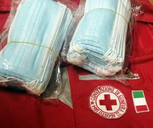 Orte - Le mascherine donate dal circolo Pd alla Croce rossa