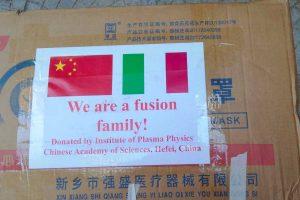 L'accademia cinese delle scienze dona 1500 mascherineall'Unitus