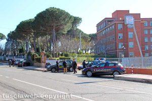 Viterbo - Villa immacolata presidiata dalle forze dell'ordine