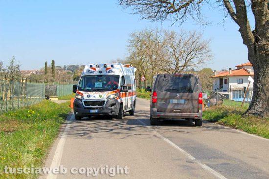 Celleno zona rossa - Un'ambulanza