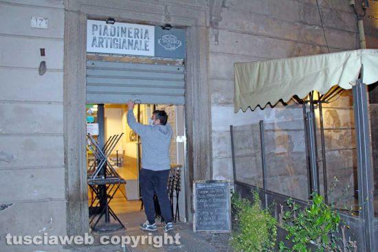 Viterbo - Una piadineria che ha aderito a Risorgiamo Italia