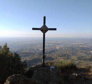 Viterbo - La croce in cima alla Palanzana