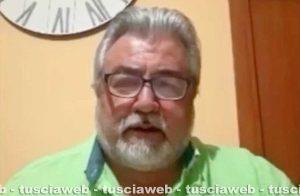 Il sindaco di Capodimonte Antonio De Rossi durante la diretta Facebook
