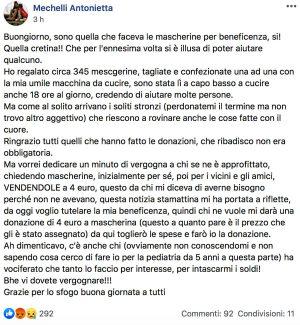 Viterbo - Lo sfogo di Antonietta Mechelli