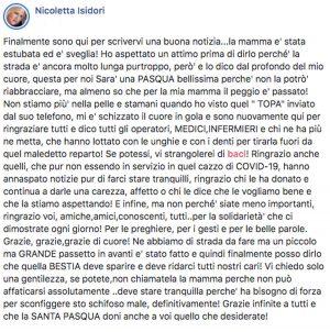 Coronavirus - Il post di Nicoletta Isidori
