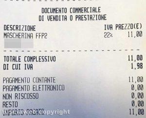 Vetralla - Undici euro per una mascherina