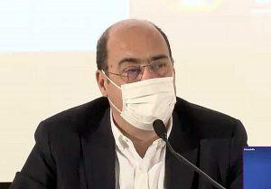 Nicola Zingaretti - Conferenza stampa allo Spallanzani