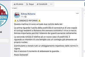 Il post su Facebook del comune di Bolsena