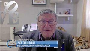 Il virologo Giulio Tarro intervistato a Porta a Porta