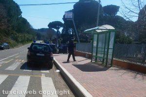 Viterbo - Le forze dell'ordine a Villa Immacolata