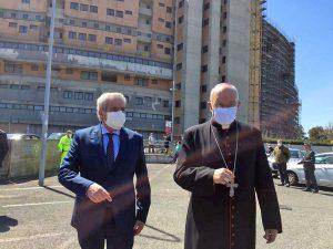 Viterbo - Il vescovo Fumagalli a Belcolle