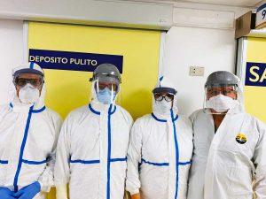 Viterbo - L'equipe di ostetrica dell'ospedale di Belcolle durante il Coronavirus