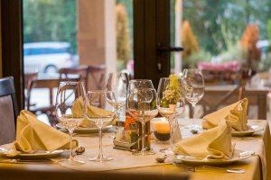 Il tavolo di un ristorante