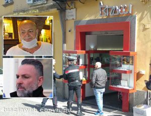 Rapina alla gioielleria Bracci - Nei riquadri Antonio Loria e Giuseppe Trovato
