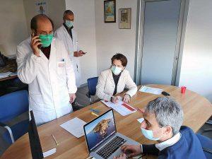 Il Team operativo Coronavirus dell'Asl di Viterbo