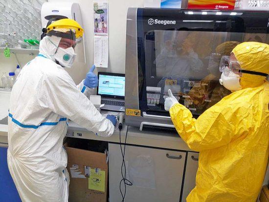 Coronavirus - Il laboratorio di Genetica dell'ospedale di Belcolle
