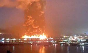 Incendio a San Francisco - Distrutta una parte del molo