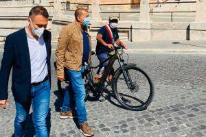 Il sindaco di Divignano Bacchetta fa tappa a Tarquinia