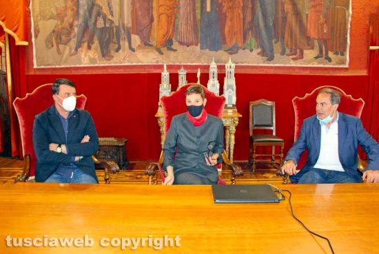Viterbo - Giancarlo Turchetti, Stefania Pomante e Fortunato Mannino