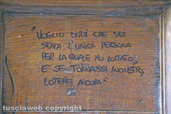 Viterbo - L'amore sui muri