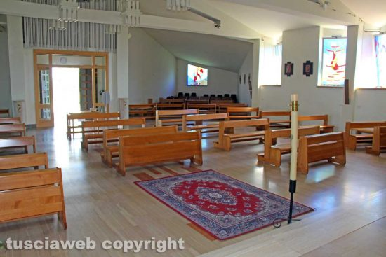 Viterbo - La chiesa della Sacra famiglia ai tempi del Covid-19