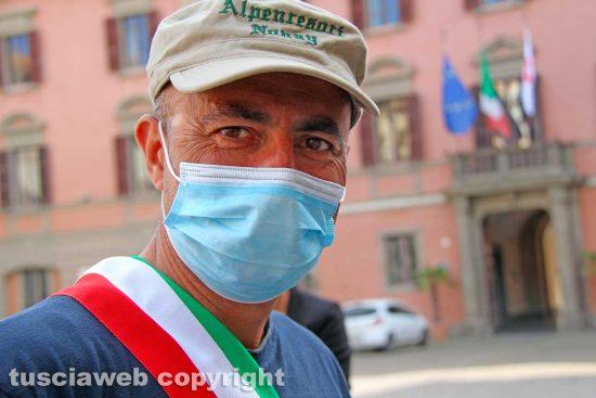 Viterbo - Il sindaco di Divignano Gianluca Bacchetta