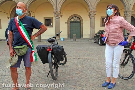 Viterbo - Gianluca Bacchetta e la consigliera Patrizia Notaristefano