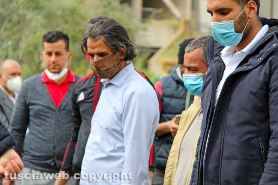Viterbo - I funerali di Ammar Hnaiene