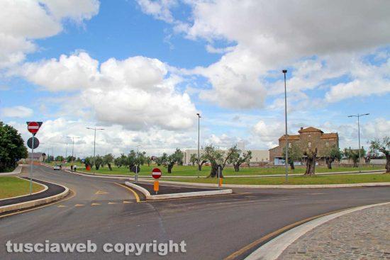 Viterbo - L'area commerciale a nord della città